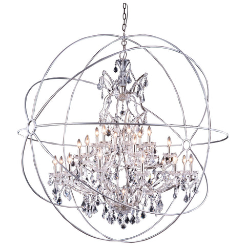 Geneva 25-Light Chandelier with Clear Royal Cut Crystal