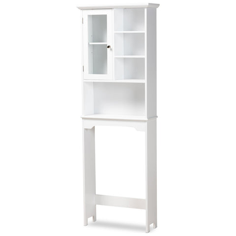 Baxton Studio Campbell White Over The Toilet Bathroom Storage Cabinet