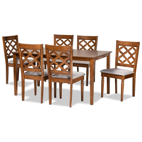 Baxton Studio Ramiro 7-Piece Dining Set