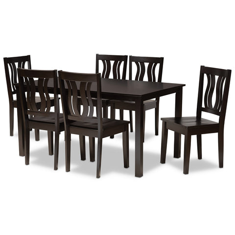 Baxton Studio Zamira 7-Piece Dining Set