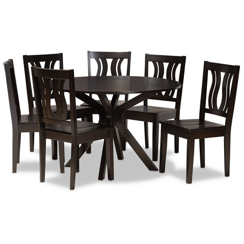 Baxton Studio Mare 7-Piece Dining Set
