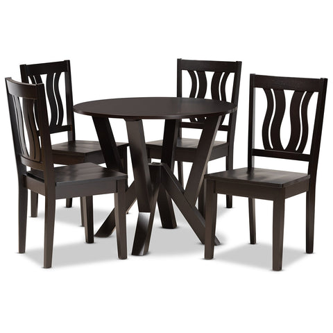 Baxton Studio Noelia 5-Piece Dining Set