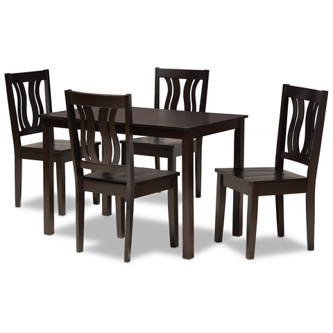 Baxton Studio Zamira 5-Piece Dining Set
