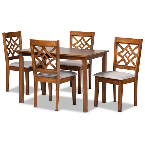 Baxton Studio Nicolette 5-Piece Dining Set