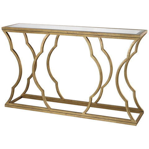 Metal Cloud Console in Antique Gold Leaf