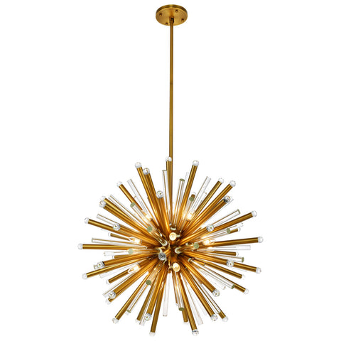 Maxwell 21-Light 36-Inch Chandelier with Clear Royal Cut Crystal