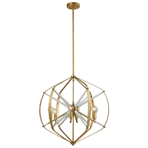 Mercury Pendant Light in Antique Gold Leaf