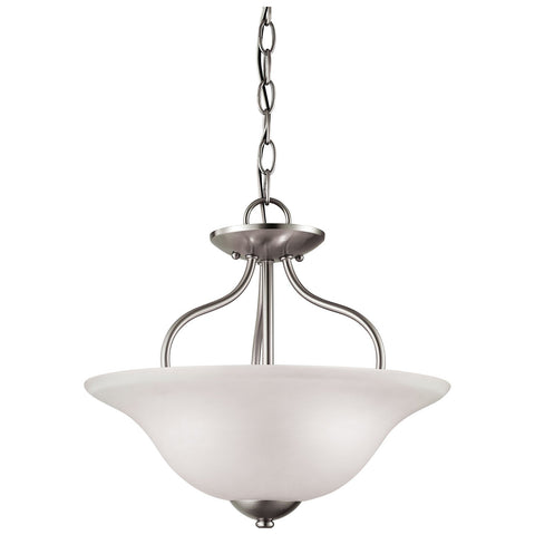 Conway 2-Light LED Semi Flush in Brushed Nickel