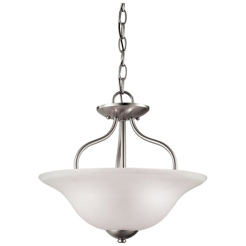 Conway 2-Light Semi Flush in Brushed Nickel