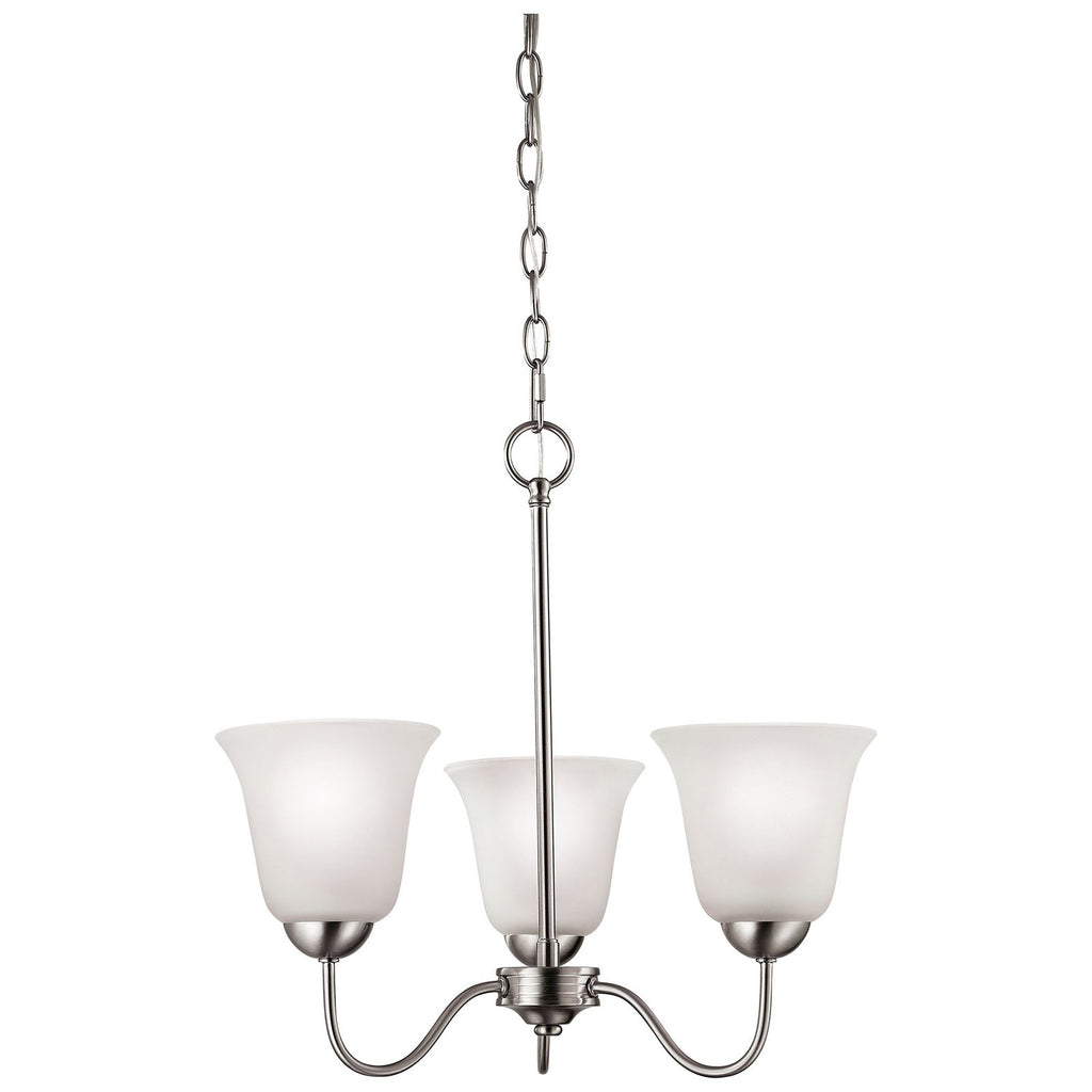 Conway 3-Light LED Chandelier in Brushed Nickel