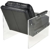 Air To The Throne Chair in Black with Clear