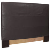 Black Faux Leather Cover FQ Headboard Slipcover