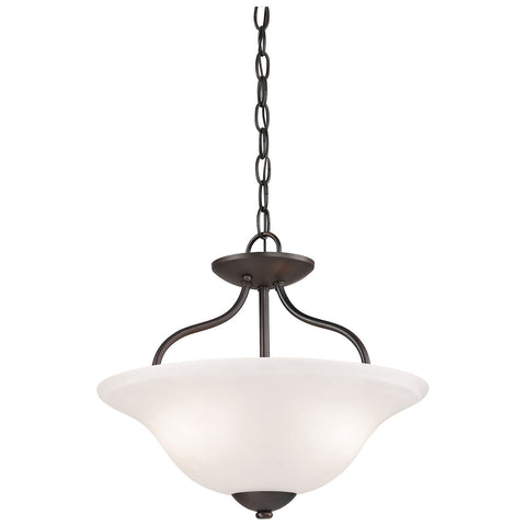 Conway 2-Light Semi Flush in Oil Rubbed Bronze