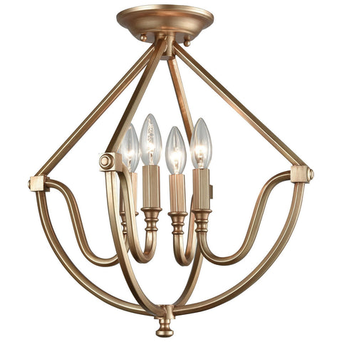 Stanton 4-Light Semi Flush in Matte Gold