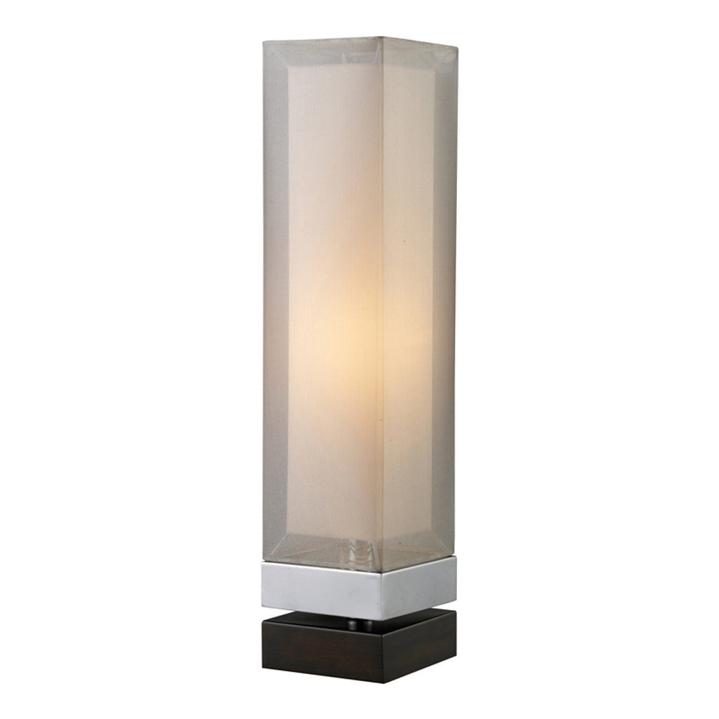 Volant 1-Light Table Lamp in Chrome and Espresso Painted Bass