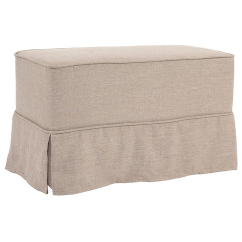 Prairie Linen Natural Universal Bench - Skirted