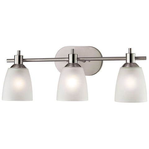 Jackson 3-Light Vanity in Brushed Nickel