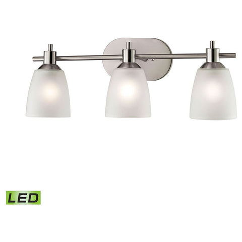 Jackson 3-Light LED Vanity in Brushed Nickel