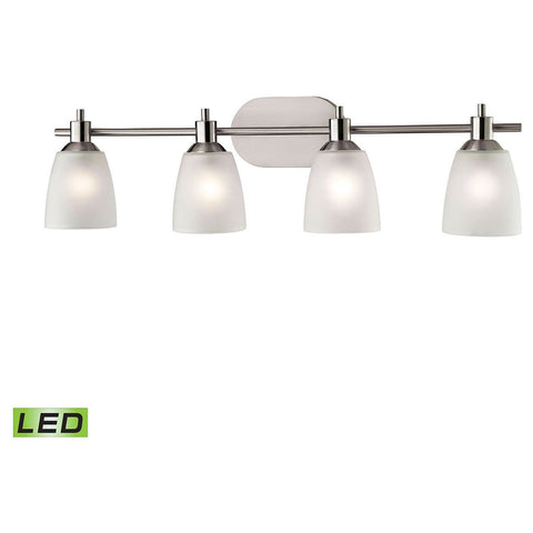 Jackson 4-Light LED Vanity in Brushed Nickel