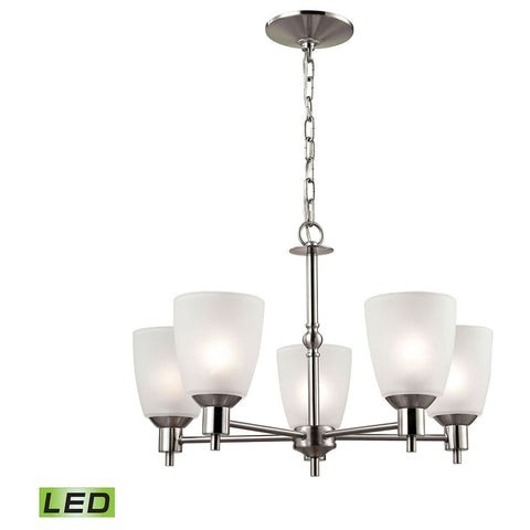 Jackson 5-Light LED Chandelier in Brushed Nickel