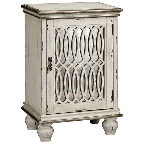 Wiley Cabinet in Aged Cream and Hand-Painted