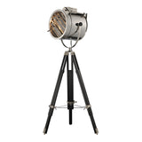 Curzon 1-Light Chrome and Black Floor Lamp