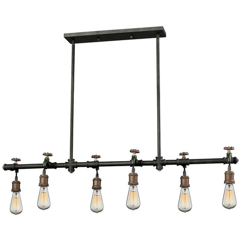 Jonas 6-Light Chandelier in Multi-Toned Weathered Finish