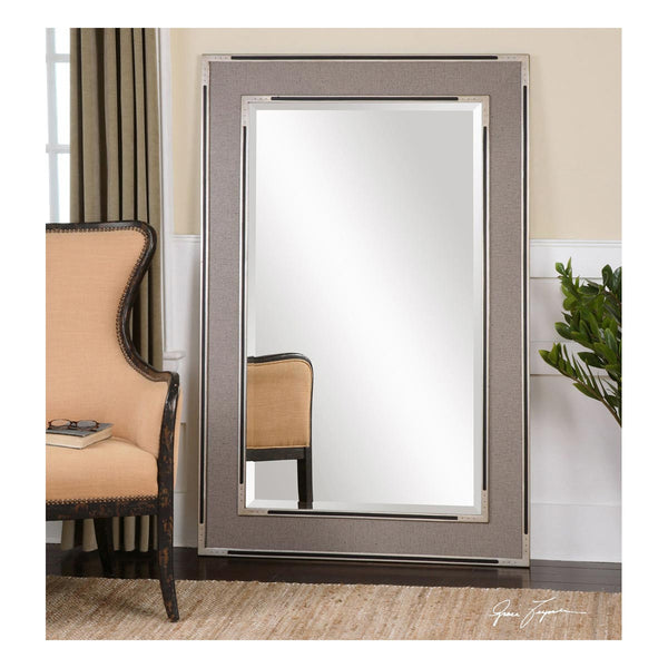 Alfred Oversized Gray Tan Mirror Uttermost