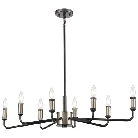 Cortlandt 8-Light Chandelier in Gray Iron