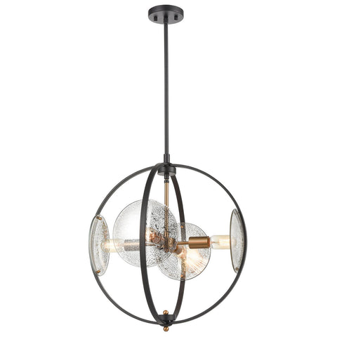 Oriah 4-Light Chandelier in Matte Black