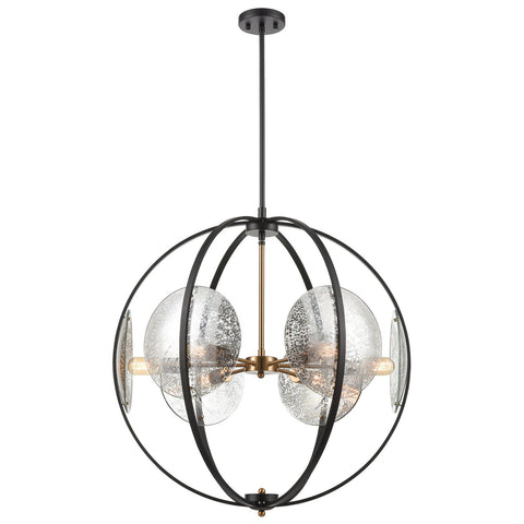 Oriah 6-Light Chandelier in Matte Black
