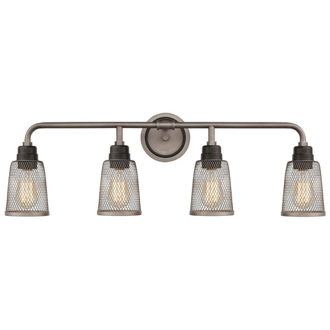 Glencoe 4-Light Vanity Light in Oil Rubbed Bronze