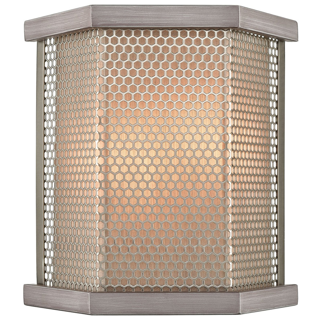 Crestler 2-Light Sconce in Weathered Zinc