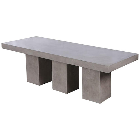 Kingston Outdoor Dining Table in Polished Concrete