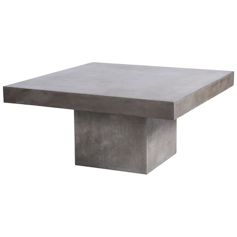 Millfield Outdoor Coffee Table in Polished Concrete