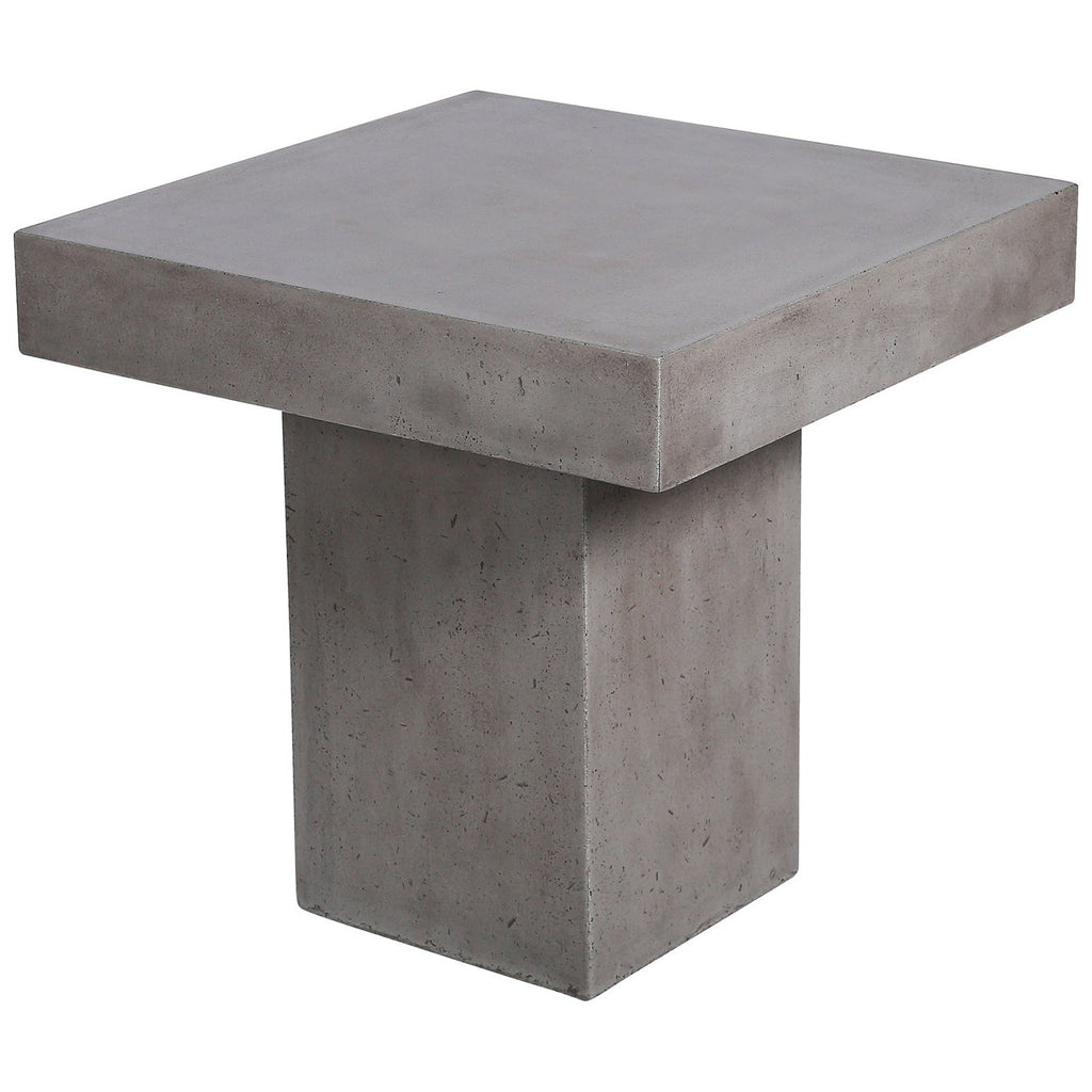 Millfield Outdoor Side Table in Polished Concrete