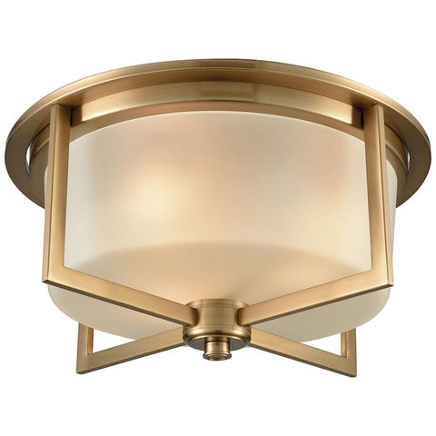 Vancourt 3-Light Flush with Frosted Glass