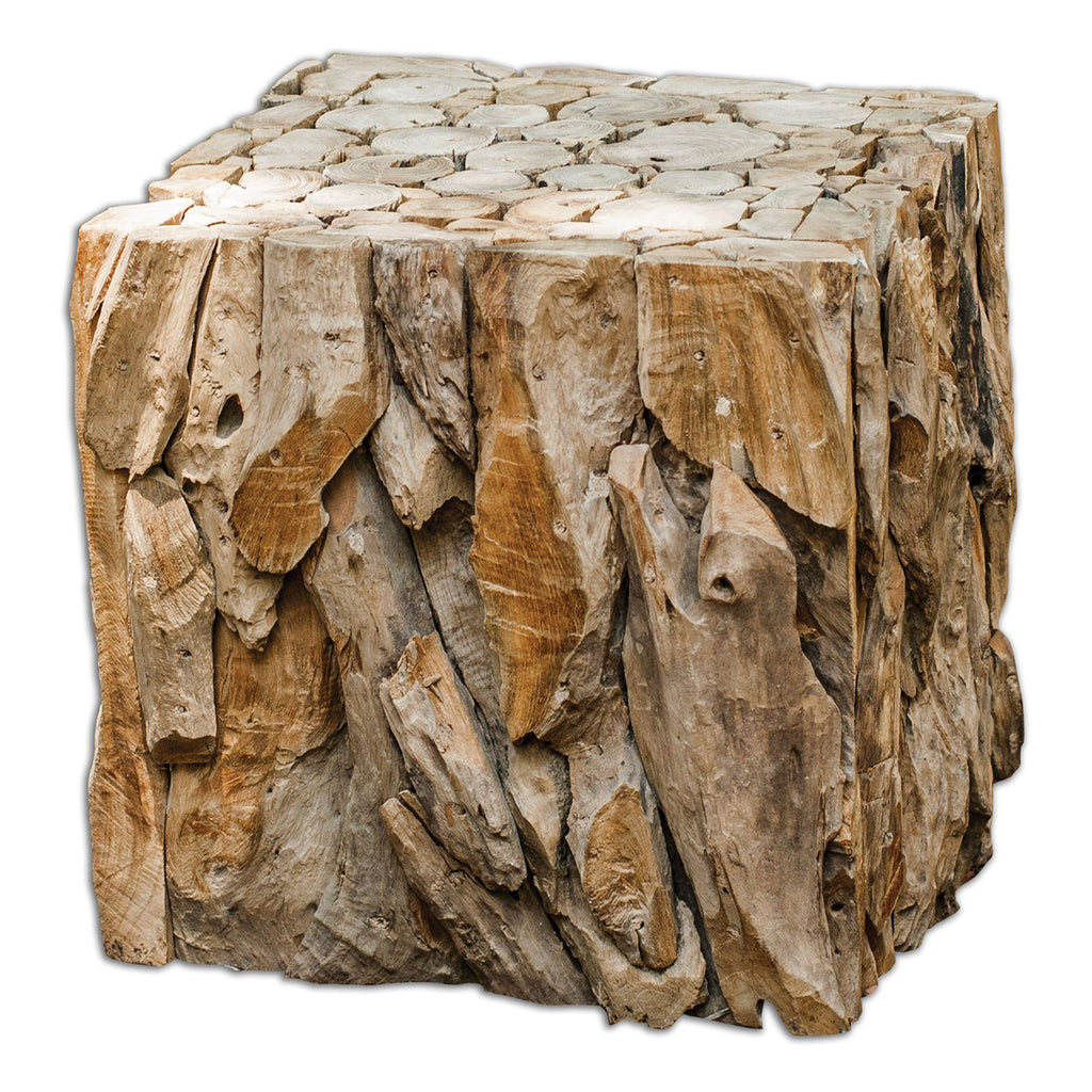 Teak Root Bunching Cube