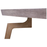 Larocca Coffee Table in Soft Gold and Grey Birch Veneer