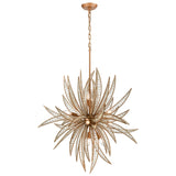 Naples 11-Light Chandelier in Matte Gold with Clear Crystal