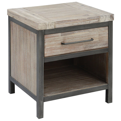 Cork County 1-Drawer Accent Table