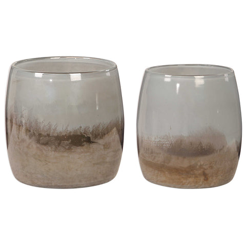 Uttermost Tinley Blown Glass Bowls, Set of 2
