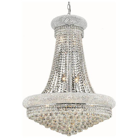 Primo 14-Light 28-Inch Chandelier with Clear Crystal