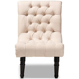 Baxton Studio Barthe Fabric Upholstered Accent Chair with Rolled Back
