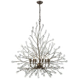 Crislett 9-Light Chandelier in Sunglow Bronze With Clear Crystal