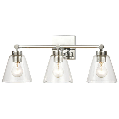 East Point 3-Light Vanity Light with Clear Glass