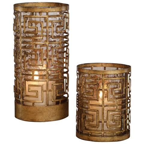 Uttermost Ruhi Hurricane Candleholders, Set of 2