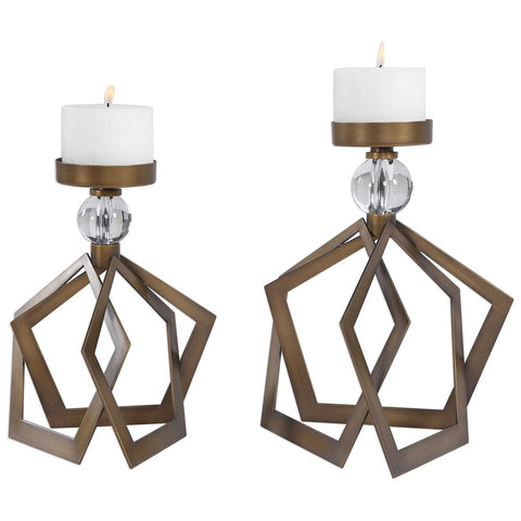 Uttermost Lianna Open Bronze Candleholders, Set of 2