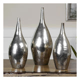 Rajata Silver Vases, Set of 3