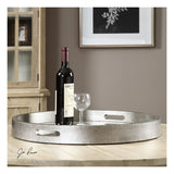 Bechet Round Silver Tray